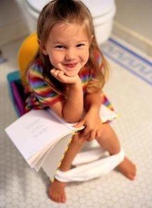 girl on potty
