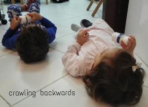 crawling on back