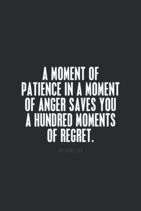 regret pateince