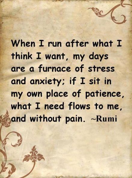 rumi patience